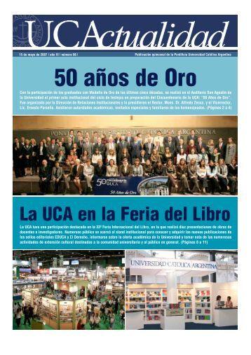50 años de Oro - Universidad Católica Argentina