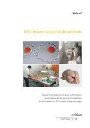 B7-V Assurer la qualité des produits - Aviforum