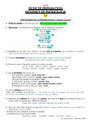 FICHE DE PREPARATION SEQUENCE DE ... - Archive-Host