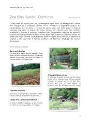 Rapport PSA sur les zoos 2012: Zoo Siky Ranch, Crémines