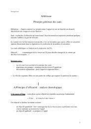 Athlétisme Principes généraux des sauts A) Principes d ... - CURSUS