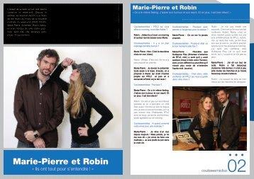 Marie-Pierre et Robin - coulissesmedias