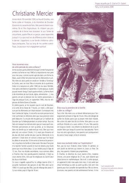 Christiane Mercier Inra