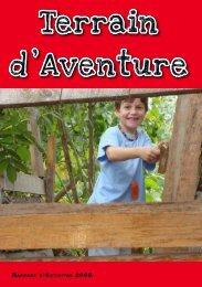 Rapport d'activité 2009 - Terrain d'aventure