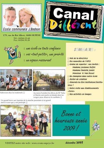 """(CANAL DIFFd""""c boncorr - Ecole communale José Bodson, Oupeye"""