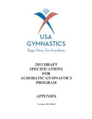 Code of Points Appendix - USA Gymnastics