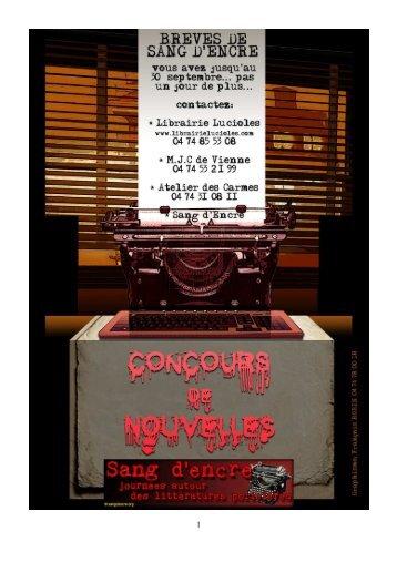BREVES SANG d'ENCRE 2012 déf. - Librairie Lucioles
