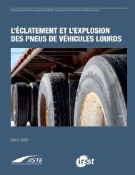 l'éclatement et l'explosion des pneus de véhicules lourds - Irsst