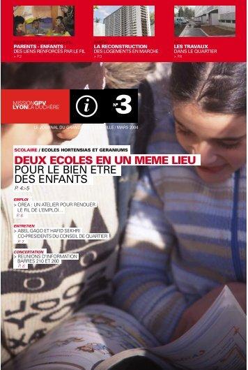 le journal du Projet n°3 (PDF : 265 Ko) - La Duchère