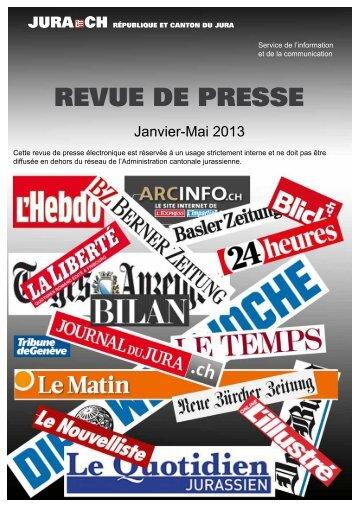 revue de presse - République et Canton du Jura
