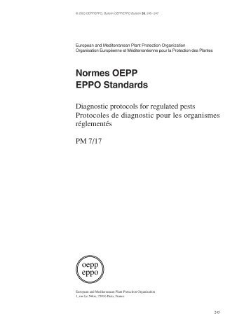 Normes OEPP EPPO Standards - European and Mediterranean ...