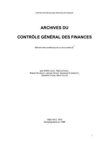 Répertoire numérique détaillé - Archives nationales