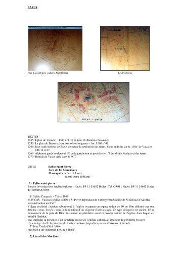 BAZUS TEXTES 1185- Eglise de Vasucio – CstS n°1 ... - Blog Gratuit