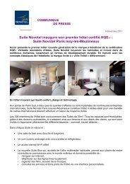 Suite Novotel inaugure son premier hôtel certifié HQE ... - Accor
