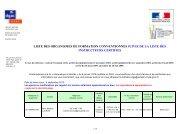 6 Liste des organismes de formation et des instructeurs certifiés ...