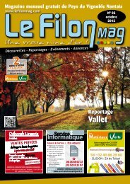 Vignoble Nantais - OCTOBRE 2012 - N°5 - Le FiLON MAG