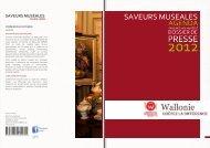 Saveurs muséales - Tourisme Wallonie