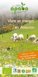 Vivre et manger en Aveyron - Aveyron bio, promotion de l'agriculture ...