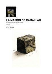 LA MAISON DE RAMALLAH - Théâtre de Poche