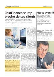 PostFinance se rapproche de ses clientsLe lien ... - La Poste Suisse