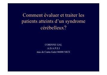 Comment évaluer et traiter les patients atteints d'un ... - Christian Gal