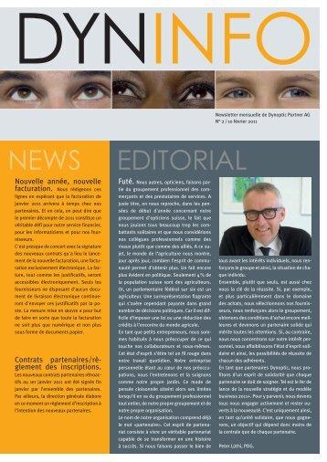EDITORIAL NEWS - Dynoptic Partner AG