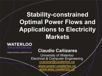 Stability-constrained Optimal Power Flows and Applications to