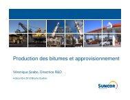 (Microsoft PowerPoint - Production des bitumes et ... - Bitume Québec