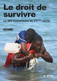 Le droit de survivre - Oxfam International