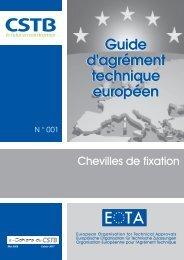 Guide d'ATE n°1 - Chevilles de fixation - CSTB