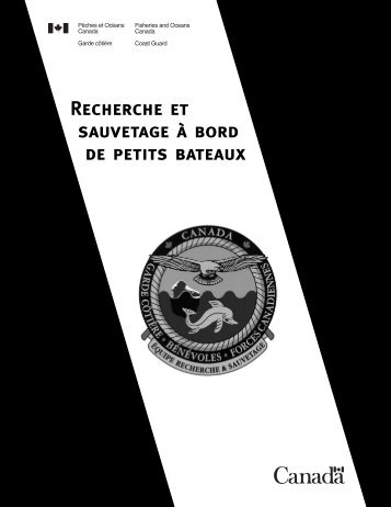 Chapitre 9 : Manoeuvre - Canadian Coast Guard