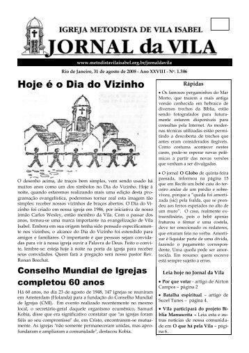 Hoje é o Dia do Vizinho - Igreja Metodista de Vila Isabel