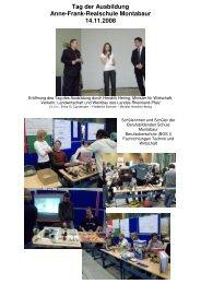 Tag der Ausbildung 2008 - Anne-Frank-Realschule plus Montabaur ...