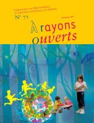 no 71 a rayons ouverts - BAnQ