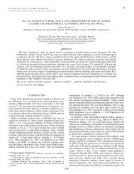 M/L, H ROTATION CURVES, AND H i GAS MEASUREMENTS FOR ...