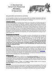 2. Elternbrief der Anne-Frank-Realschule Montabaur