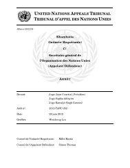 united nations appeals tribunal tribunal d'appel des nations unies