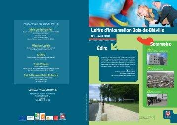 Lettre d'information Bois-de-Bléville N°3 - Le Havre