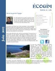 Juin 2013 - Conseil régional de l'Environnement Gaspésie-Îles-de ...