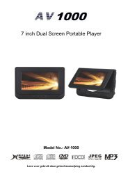 AV-1000 Dual Screen DVD - Autovision