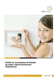 Politik for anvendelse af billeder og video i Skive ... - Skive.dk