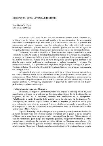 CLEOPATRA: MITO, LEYENDA E HISTORIA Rosa María Cid López ...