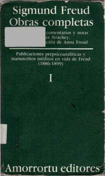 Publicaciones prepsicoanalíticas y manuscritos inéditos en vida de ...
