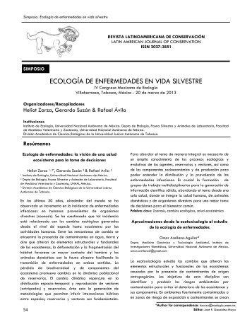 ECOLOGÍA DE ENFERMEDADES EN VIDA SILVESTRE - ProCAT
