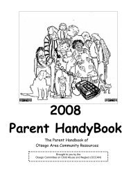 Parent Handy Book - Otsego County's Website