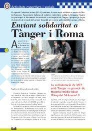 Enviant solidaritat a Tànger i Roma. (PDF) - Ajuntament de Barcelona