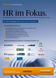 HR im Fokus. - Anne M. Schüller
