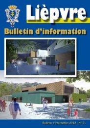 Bulletin d'information - Lièpvre