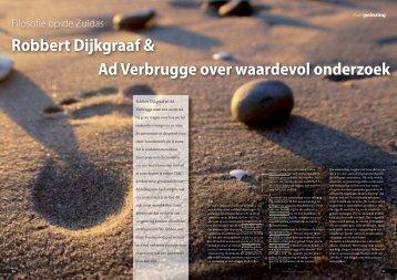 Robbert Dijkgraaf & Ad Verbrugge over waardevol onderzoek