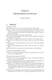 Openbaarheid van bestuur - Koninklijke Commissie voor ...